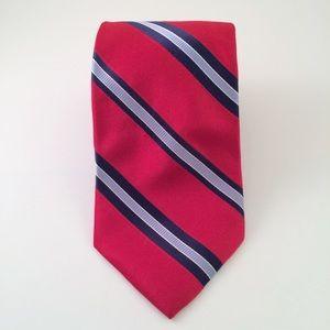 Tommy Hilfiger Red Navy Striped Men's Tie